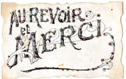Postcard / CP / Postkaart / RELIEF / Fleurs / Flowers / Au Revoir Et Merci / 1907 - Sonstige