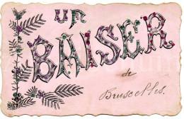Postcard / CP / Postkaart / RELIEF / Fleurs / Flowers / Un Baiser De Bruxelles / 1907 - Sonstige