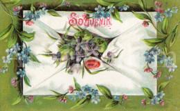 Postcard / CP / Postkaart / RELIEF / Fleurs / Flowers / Souvenir / Made In Germany / Ser. 563 / 1908 - Sonstige