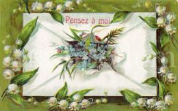 Postcard / CP / Postkaart / RELIEF / Fleurs / Flowers / Pensez à Moi / Made In Germany / Ser. 563 / 1908 - Sonstige