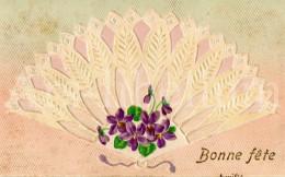 Postcard / CP / Postkaart / RELIEF / Fleurs / Flowers / Fan De Dentelle / Lace Fan / 1907 - Sonstige