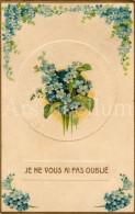 Postcard / CP / Postkaart / RELIEF / Fleurs / Flowers / Je Ne Vous Ai Pas Oublié / Ser. 722 / 1909 - Sonstige