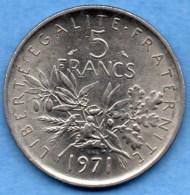 V/ FRANCE  5 FRANCS  Semeuse 1971 - France