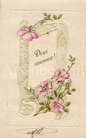 Postcard / CP / Postkaart / RELIEF / Fleurs / Flowers / Silk / Tissu De Soie / Doux Souvenir / 1907 - Sonstige