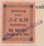 Germany - WW2 Quittung Revenue (Tax Fiscal) Stamp - Trier Cachet On Geburtsurkunde - Allemagne