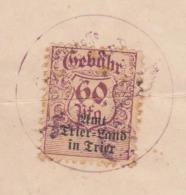 Germany - 1940 Trier-Trier Land Heiratsurkunde 60 Pfg. Revenue (tax, Fiscal) Stamp On Document - Allemagne