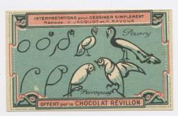 """1 IMAGE 6X10,5: DESSINER SIMPLEMENT , DISTRIBUÉ PAR """"CHOCOLAT REVILLON"""" - Revillon"""
