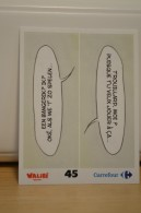 Stickers Walibi The Battle Game - Wab Or Skunx ? - Carrefour - N° 45 - Adesivi