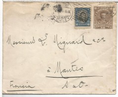CHILE ENTERO POSTAL DE IQUIQUE A MANTES 1914 AL DORSO MAT VALPARAISO Y MANTES - Chili