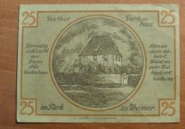 1921 - Allemagne - Germany - 25 PFENNIG, Notgeld Weimar, 1 Marz 1921, 123246 - [ 3] 1918-1933: Weimarrepubliek