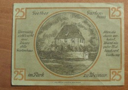 1921 - Allemagne - Germany - 25 PFENNIG, Notgeld Weimar, 1 Marz 1921, 123246 - [ 3] 1918-1933 : République De Weimar
