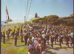 Falkland Islands Birthday Of Queen Elizabeth / Parade In Stanley Postcard Unused (29175) - Islas Malvinas