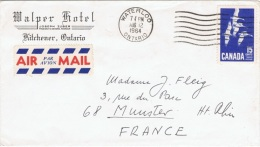 OIS-L81 - CANADA Lettre Par Avion De Waterloo Pour Munster Aff. Oies Sauvages
