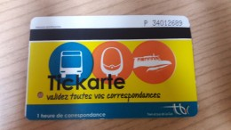 FRANCE Train Railway Metro Bus Tic Karte Used Ticket - Vervoerbewijzen