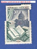 FRANCE ANNEE 1954 N° 971 EDITION RELIURE TRACE CHARNIERE OBLITERE 5 SCANNE DESCRIPTION - Kuriositäten: 1950-59 Gebraucht