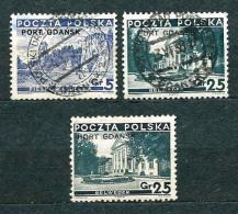 Poland Polen Pologne; Port Gdansk 1936, MiNr 29-31 Incomplete, Additional MiNr 31 - Unused / Used - See Description - 1919-1939 République