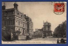 35 SAINT SERVAN L'Hôtel De Ville Et La Rue Ville-Pépin - Animée - Saint Servan