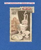 VARIÉTÉS 1954 N° 970 TAPISSERIE  PHOSPHORESCENTE OBLITÉRÉ DOS CHARNIÈRE - Varieties: 1950-59 Used