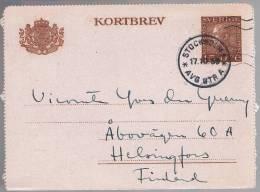 Sweden, 1939, For Helsingfors - Storia Postale