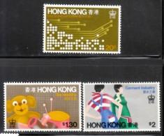Hong Kong 1979 Scott 351-3 Industries MNH** - Nuevos
