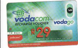 Afrique Du Sud,SOUTH AFRICA, Vodacom Recharge Voucher R 29 - Zuid-Afrika