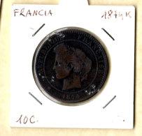 France, 10 Cents Cérès 1874 K. - Frankreich