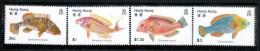 Hong Kong 1980 Scott 369-72 Fish MNH** - Hong Kong (...-1997)
