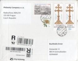 Tschechien Tschechische Republik Ceska 2013 R-Brief Registered Mail - Tchéquie