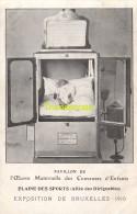 CPA PAVILLON DE L'OEUVRE MATERNELLE DES COUVEUSES ENFANTS EXPOSITION DE BRUXELLES 1910 - Exhibitions