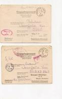 8 LETTRES DE PRISONNIER - Poststempel (Briefe)