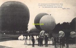 CPA 75 Eme  ANNIVERSAIRE DE L'INDEPENDANCE BELGE GRANDE FETE AEROSTATIQUE 1905 LE LANCEMENT DES PETITS BALLONS - Montgolfières