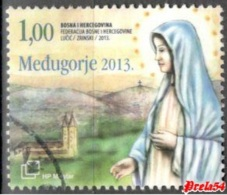 Bosnia Croatian Post - Medjugorje 2013 Used - Bosnia And Herzegovina