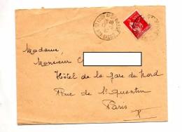 Lettre Cachet Saint Loup Sur Gandon - Marcophilie (Lettres)