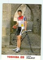Fabrice PHILIPOT . 2 Scans. Cyclisme. Toshiba 1989 - Radsport