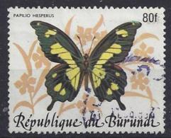 Burundi 1984 African Butterflies 80f (o) - 1980-89: Usati