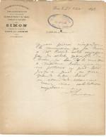 COURRIER SIMON, MARCHAND TAILLEUR à BOÊN SUR LIGNON (LOIRE) 1892 - 1800 – 1899