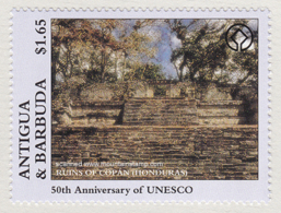 "Antigua Barbuda 1997 Ruins Of Copan Honduras MNH """" - Antigua Et Barbuda (1981-...)"