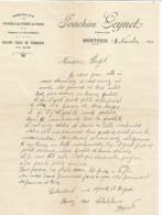 COURRIER JOACHIM GEYNET POMMES DE TERRE à MONTFRIN (GARD) 1921 - France