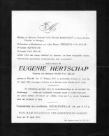 Hertschap Eugenie Weduwe Van Hulle Henri °Wynckel 1853 + Gent 17/4/1942 Gentbrugge Maenhaut Pierssens Sint-Kruis-Winkel - Obituary Notices