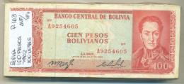 Bolivia - 100 Bolivano 1962 VF - Bolivië
