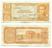 Bolivia - 50 Bolivano 1962 VF - Bolivië