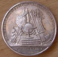 Médaille Uniface  Société D´Agriculture Des Sciences Et Des Arts De Valenciennes - Professionnels / De Société