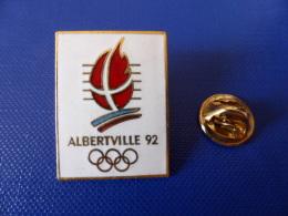 Pin´s JO Jeux Olympiques Albertville 92 - Cojo 1991 - Logo Blanc - 2.1 X 2.8 Cm (PH6) - Olympic Games