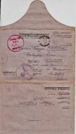 "Correspondance KG- N°4 MARCHAL Boulanger D´Eloyes 88 Stalag VB 12 B Rouge  Cachet ""GESTAPO"" LETTRE 10 Août 1941 - Weltkrieg 1939-45"