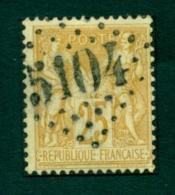 France  Y&T 92 Oblitération  5104 Shangai - 1876-1898 Sage (Tipo II)