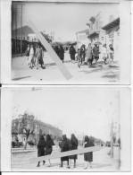 1929-1930 Syrie Levant Homs Femmes Voilées Dans La Rue 2 Cartes Photo - War, Military