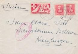 GUERRA CIVIL- CARTA ENVIADA A ALEMANIA - SELLO DE FRENTE Y HOSPITALES  - RARA EM CARTA - CENSURA MILITAR DE GUECHO - 1931-50 Cartas