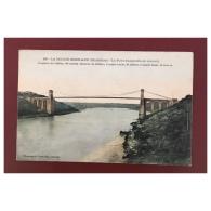 La Roche Bernard  Le Pont Suspendu En Amont  280   Phototypie Vasselier Nantes  Colorisée - La Roche-Bernard