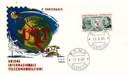 Fdc Siligato : UIT 1965  ; No Viaggiata; AF_Roma - F.D.C.