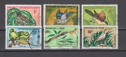 Yvert 238 / 243A Oblitéré Manque Le 243 Oiseaux Birds - Niger (1960-...)